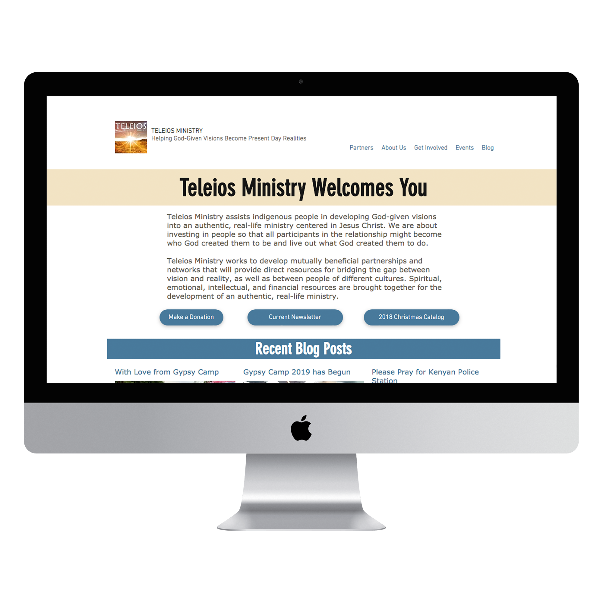 Teleios Ministry - After - Desktop - Mockup