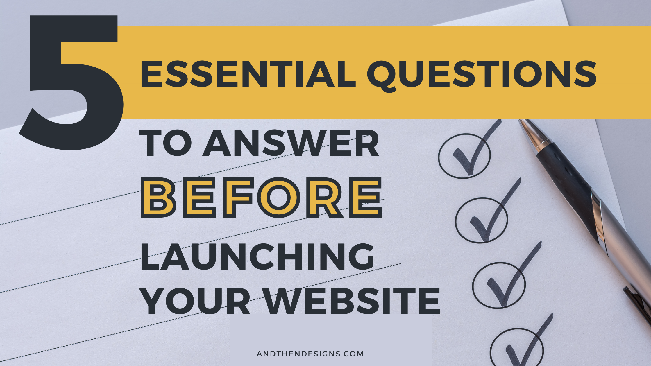 Five Essential Questions to Answer Before Launching Your Website